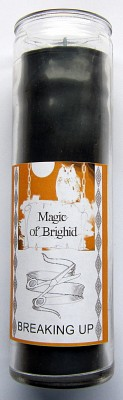 Magic of Brighid Glass Candle Breaking up