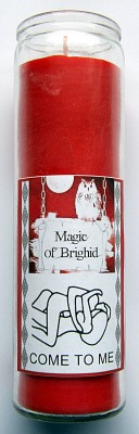 Magic of Brighid Glass Candle Come to me