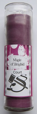 Magic of Brighid Glass Candle Court