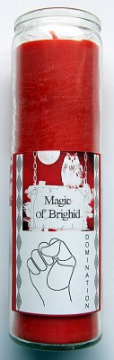 Magic of Brighid Glass Candle Domination