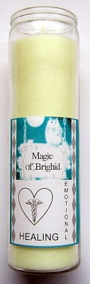 Magic of Brighid Glass Candle Emotional Healing