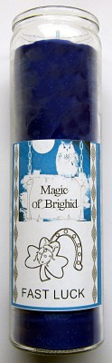 Magic of Brighid Glass Candle Fast Luck