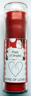 Magic of Brighid Glass Candle Fire of Love