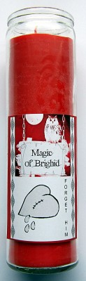 Magic of Brighid Glass Candle Forget him