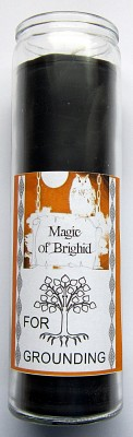 Magic of Brighid Glass Candle For Grounding