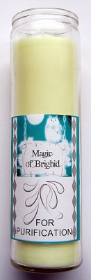 Magic of Brighid Glass Candle For Purification