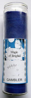 Magic of Brighid Glass Candle Gambler