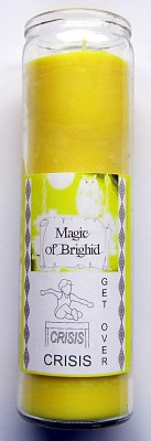 Magic of Brighid Bougie en verre Get over Crises