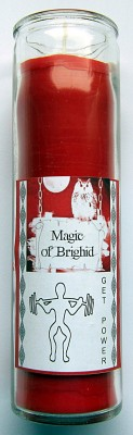 Magic of Brighid Bougie en verre Get Power