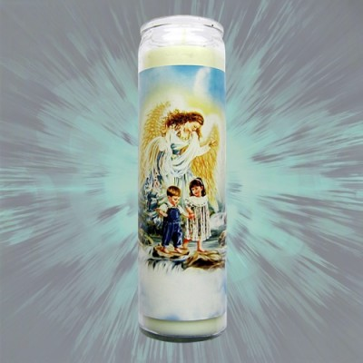 Magic of Brighid Guardian angel Glass Candle