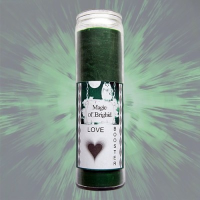 Magic of Brighid Glass Candle Love Booster