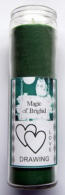 Magic of Brighid Bougie en verre Love Drawing
