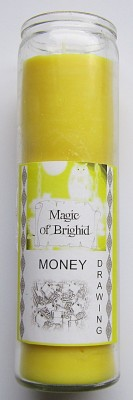 Magic of Brighid Glass Candle Money Drawing