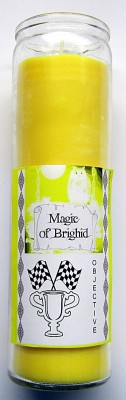 Magic of Brighid Glass Candle Objective