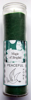 Magic of Brighid Glass Candle Peaceful Home