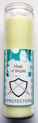 Magic of Brighid Glass Candle Protection