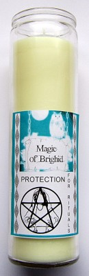 Magic of Brighid Glass Candle Protection for Rituals