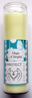 Magic of Brighid Glass Candle Protect your Love