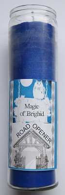 Magic of Brighid Glass Candle Road Opener
