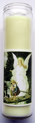 Magic of Brighid Glass Candle Guardian angel