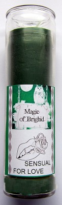 Magic of Brighid Glass Candle Sensual for Love