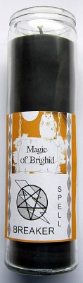 Magic of Brighid Glass Candle Spell Breaker
