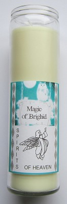 Magic of Brighid Glass Candle Spirits of Heaven