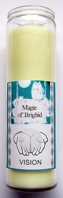 Magic of Brighid Glass Candle Vision