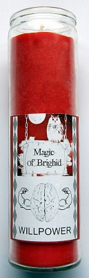 Magic of Brighid Glass Candle Willpower