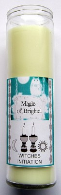 Magic of Brighid Bougie en verre Witches Initiation