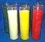 Bougies de couleur en verre