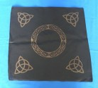 Black Altar Cloth with golden Triquetta