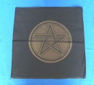 Black Altar Cloth with golden Pentagram