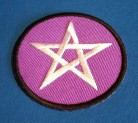 Patch Pentagram violet/white