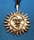 Zinn-Anhänger Sonne-Mond