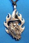 Pendant Merlin with black stone