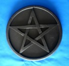 Altar Pentacle from Wood, black