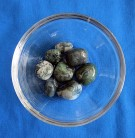 Moss agate Tumbled Stones sorted 100 g