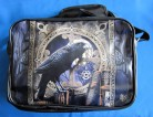 Shoulder bag with raven