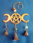 Windchime Triple Moon ​​of brass