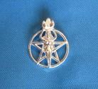 Pendentif Pentagram avec déesse