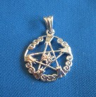 Pendant pentagram witches' broom