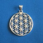 Pendant Flower of Life silver plated