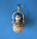 Pendant Witches elixir bottle with stone