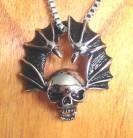 Ciondolo in acciaio inossidabile Ali di pipistrello 3D