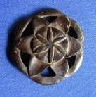Pendentif heureuse étoile en bois de noix de coco