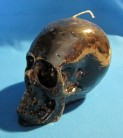 Figure Candles for Magickal Purposes - Skull Candle black