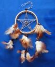 Capteur de rêves avec pentagramme