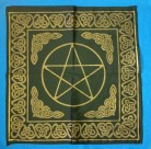 Altar Cloth with celtic patterns and Pentagram