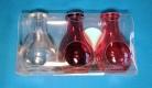 Elixierflaschen-Set rosa 45 ml mit Korken